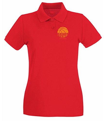 T-Shirtshock - Polo pour femme SP0021 Basket Ball Sport Maglietta Rouge