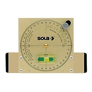 41viDgYGTRL. SS300  - Sola Nam - Nivel Medidor de Ángulos Magnético de Aluminio Extra Resistente de 15 cm con Burbuja de Precisión Focus, Dorado