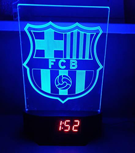 FC Barcelona Led Tischlampe Neonschild Schild Barca 3D Neon mit Uhr und Wecker USA Schnelle Lieferung