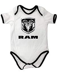 Cuerpo del bebé Unisex Dodge RAM Cuerpo del bebé Blanco Manga Corta bebé ...