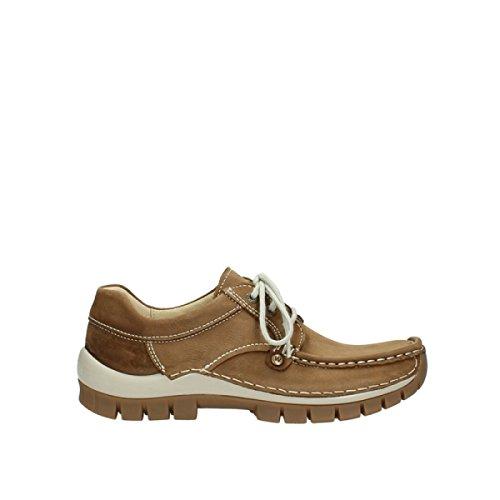 Wolky  4708-141, Chaussures de ville à lacets pour femme Marron Clair