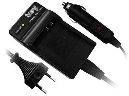 Troy-Akku Ladegerät für Sony NP-BG1 NP-FG1 für Cybershot DSC H3 H7 H9 H10 H20 H50 HX5V N1 N2 T20 T25 T100 W27 W30 W35 W40 W50 W55 W70 W80 W80HDPR W85 W90 W100 W110 W115 W120 W130 W150 W170 W200 W210 (Cyber-shot W200)