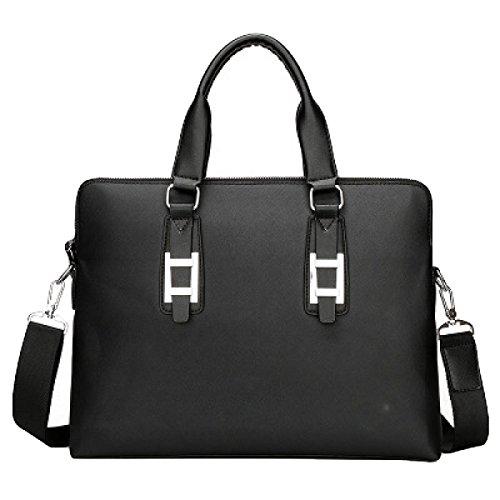 Männer Tragbare Computer-Tasche Kapazität Einzigen Schulter Schräge Aktenkoffer Große Kapazität Datei-Paket Lässig Black