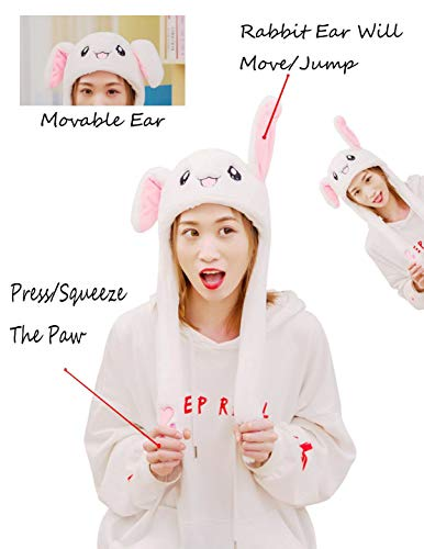 Hüte, Mützen & Caps Kaninchen Hat Ear Moving Jumping Hat Bunny Plush Hat Cap for...