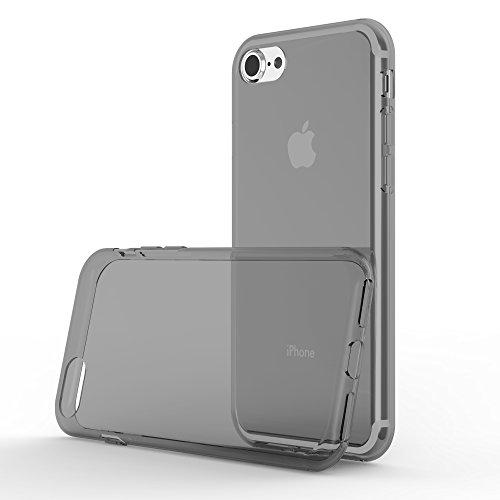 Preisvergleich Produktbild Cadorabo Hülle für Apple iPhone 7 / iPhone 7S / iPhone 8 - Hülle in TRANSPARENT SCHWARZ – Handyhülle aus TPU Silikon im Ultra Slim 'AIR' Design - Silikonhülle Schutzhülle Soft Back Cover Case Bumper