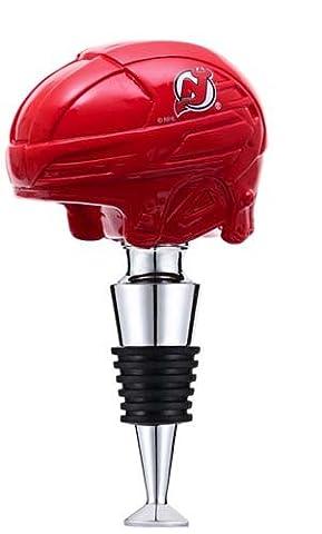 New Jersey Devils Logo Helmet Wine Bottle Stopper by Team Sports America