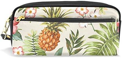 Coosun Fleurs Tropicales Ananas Ananas Ananas étudiants Grande contenance Cuir PU Trousse d'école Pen Sac pochette Coque stationnaire Maquillage de sac B075KK75HM | De Haute Sécurité  e7c111