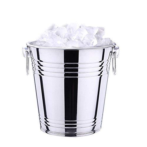 Edelstahleimer Eimer Edelstahl-Eiskübel Eiskübel Eiskübel aus Edelstahl für Champagner Edelstahl Eimer Kücheneimer Eiswürfelbehälter L