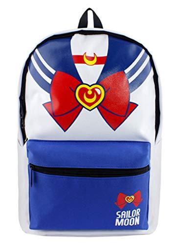 Cosstars Sailor Moon Anime Bolso de Escuela de Colores Mochila de Estudiante Backpack para Niños y Niñas