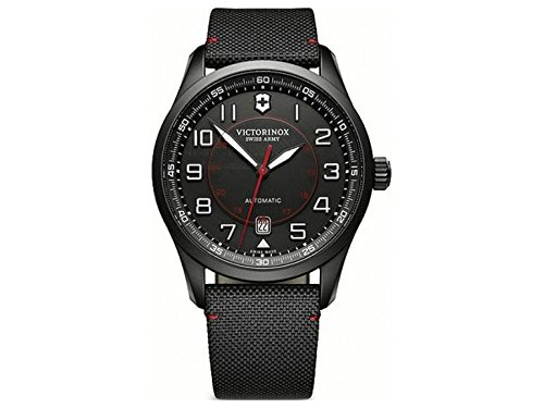 Victorinox Swiss Army – AirBoss Mechanical Black Edition – Reloj de Pulsera analógico automático para Hombre, con Correa de Tela, 241720
