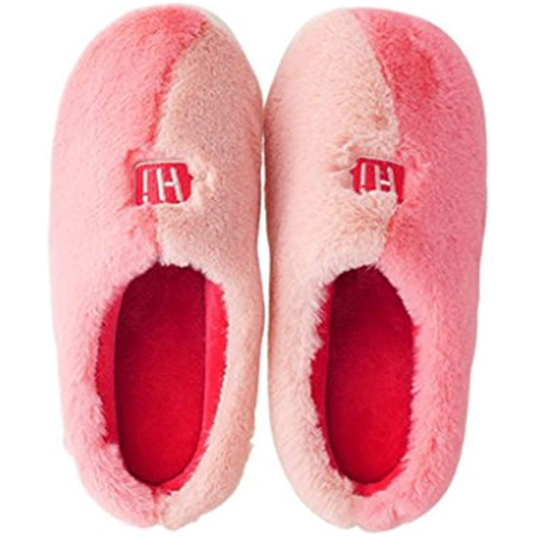 Pantoufles, pantoufles coton, en coton, pantoufles sac d'hiver épais et épais avec un fond anti-dérapant version coréenne de la... - B075SGBR47 - b94d74