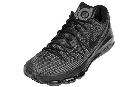 Nike KD 8, Scarpe da Basket Uomo Multicolore (Negro / Gris (Black / Black-Dark Grey-Cl Grey))