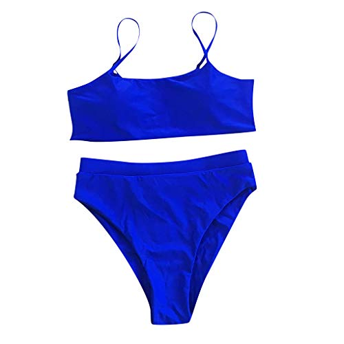 Aoogo Damen Neu Plissee Stoffmuster Bikini Set Zweiteiliger Badeanzug Push Up Bikini Triangel Ausschnitt Bandage Bandage Mit Elastisch Bikini Bottom Bathing Suit