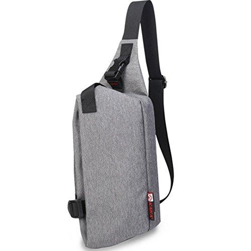 YAAGLE damen und herren Brustbeutel verschleissfest Oxford Schultertasche mit viele Taschen schick Umhängetasche Sporttasche grau grau