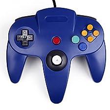 Game Controller Joystick for Nintendo 64 N64 System Deep Blue Pad Mario Kart