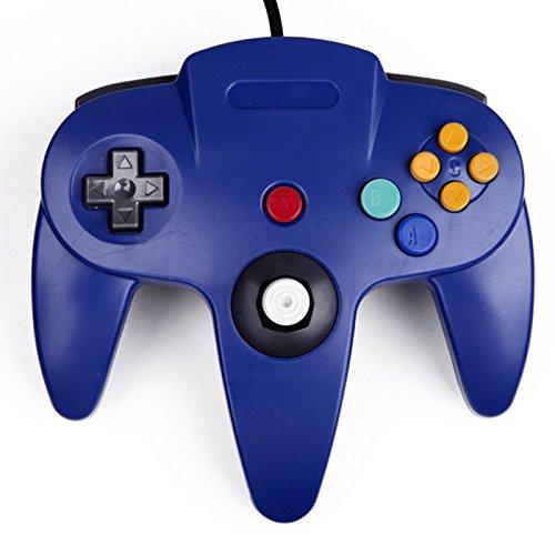Manette de Jeu Nintendo 64 N64 Classique Gamepad Joystick pour Nintendo 64 Système bleu