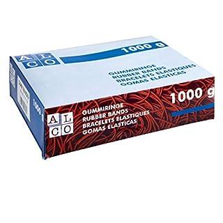Alco-Albert 763 Gummibänder, 200 x 6 mm, 1 kg rot