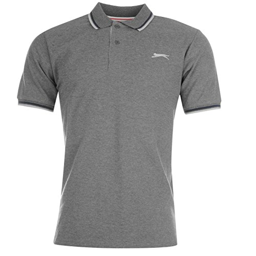 Slazenger Tipped Herren Polo Poloshirt T Shirt Kurzarm Classic Fit Tee Top XXL (Top Tank Baseball-baumwolle)