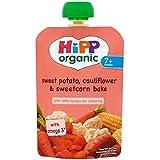 Hipp Organique Patate Douce, Le Chou-Fleur Et Le Maïs Doux Pâtisseries 7 + Mois 130G