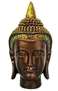 Statuette Bouddha Thaï Déco, Statue Tête (à poser) - B04