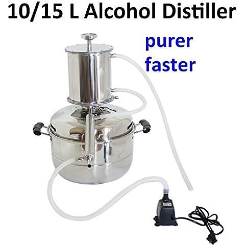 Bluelover Alimentare dell'acciaio inossidabile 304 alcol vino distillatore Home Brewing vino Brandy distillazione macchina-10 L