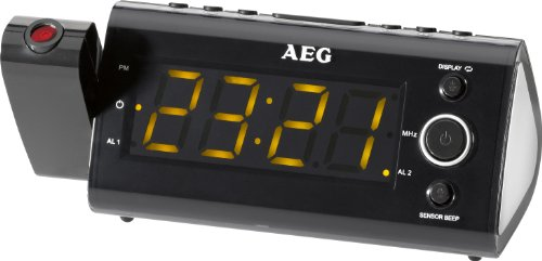 AEG MRC Uhrenradio mit Projektor (11 cm (4,3 Zoll) LED Display, MW/UKW-Tuner) - Wand Decken Outlet