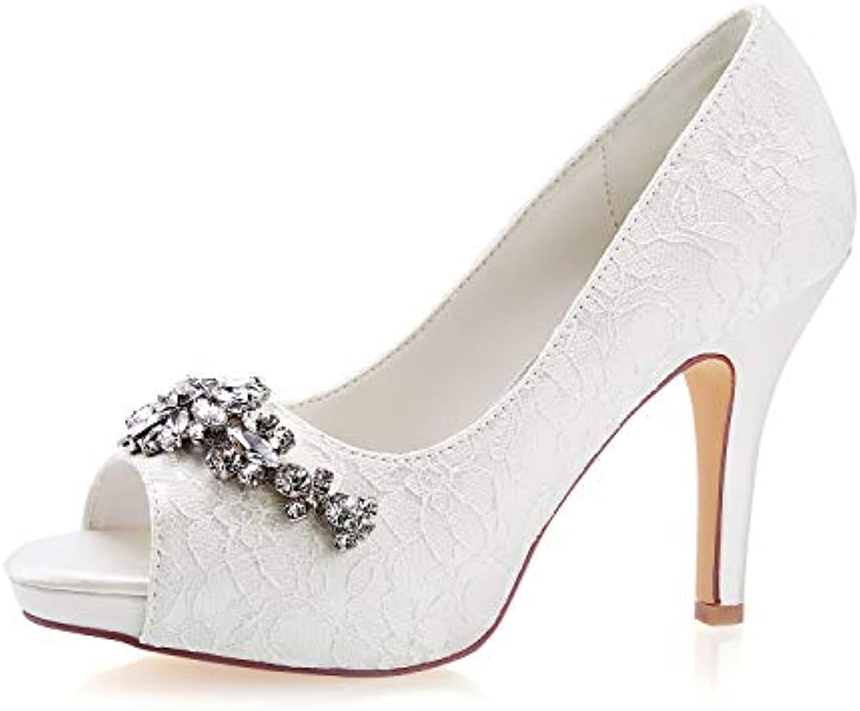 Emily nhta 29876 Bridal Peep Ivory High Wedding scarpe Peep Peep Bridal Toe 7b2b10