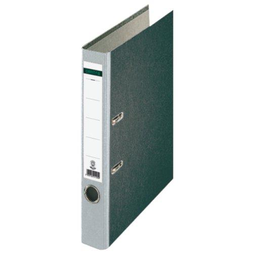 Centra 221127 Standard-Ordner (grauappe RC, mit Wolkenmarmor-Papier-Kaschierung, A4, 5,2 cm Rückenbreite) grau