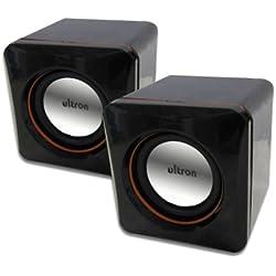 ultron Mini Cubes 2.0 schwarz, 2.0 PC-Lautsprechersystem