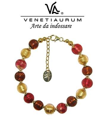 Venetiaurum - Bracelet en verre de Murano et argent 925, Made in Italy