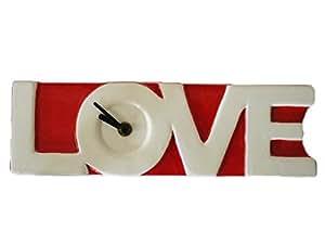 Horloge LOVE en céramique