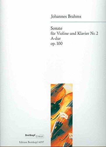 BRAHMS - Sonata Op.100 en La Mayor para Violin y Piano (Urtext)