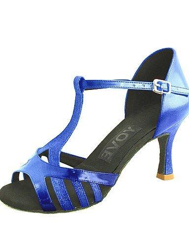 shangyi ajustables–Dimensions gefertigter Paragraphe–en cuir synthétique–Latin/Salsa–Femme Bleu - bleu