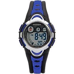 Hiwatch Kinder Sportuhr Wasserdichte Digitaluhr für Jungen Mädchen LED Armbanduhr für Kleinkinder Kindergeschenk Blau