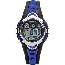 Hiwatch Orologio Bambino Sportivo Impermeabile Digitale con Cronometro Allarme per Ragazzi e Bambini Blu Sicuro