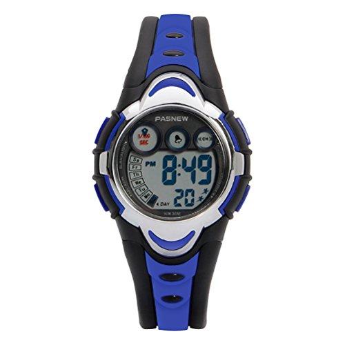 Hiwatch Relojes Deportivos Impermeable para los Niños/Niñas Reloj de Pulsera Digital a Prueba de Agua Infantiles Azu
