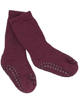 GOBABYGO Original Rutschfeste Baby Socken aus Dicker Baumwolle | mit Gummibelägen an Fußsohlen und Zehen, Damit...