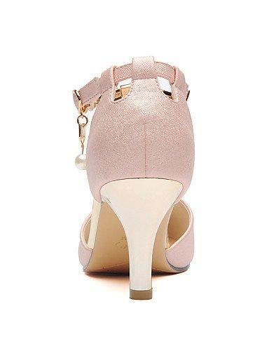 UWSZZ IL Sandali eleganti comfort Scarpe Donna-Sandali-Ufficio e lavoro / Formale / Serata e festa-Tacchi-A stiletto-Finta pelle-Rosa / Bianco Pink
