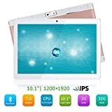 "Qimaoo Tablette Tactile 10.10"" -Android 7.0,4G/WiFi,2GO RAM+32GO ROM,Huit Core Doule SIM, Bluetooth,GPS,OTG,FM"