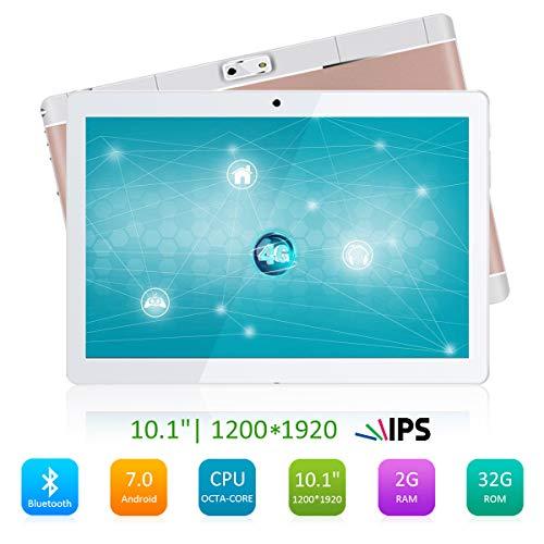 P3 Dual-karte (Qimaoo Tablet mit Touchscreen, 10,1 Zoll (25,65 cm), Android 7.0 (2 GB RAM + 32 GB ROM, 8 Core Dual-SIM, WiFi, Bluetooth, GPS, OTG, FM))