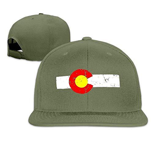 lijied Cute Plain Adjustable Colorado State Flag Distressed Vintage Look Baseball Hat Cool Hat -