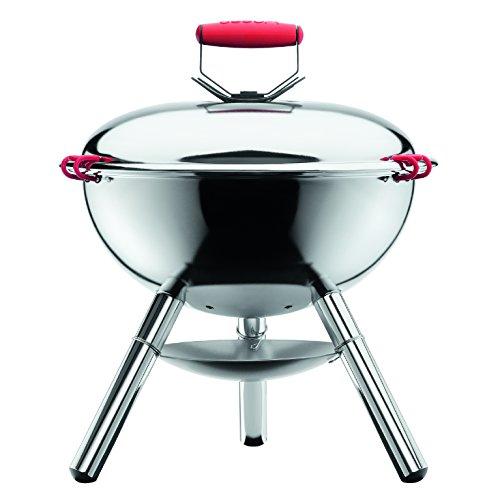 Bodum Barbecue Fyrkat Picnic Charcoal Grill, Argento/Chrome