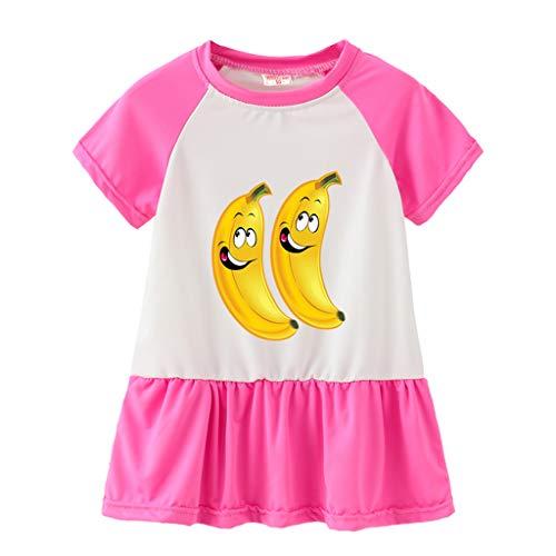 Yanhoo-Kinder Kinderkleidung Baby MäDchen Ostern T-Shirt Tops Bunny HosenträGer Rock Overalls Kleidung Osterhase Bedruckter Babybekleidung für Mädchen