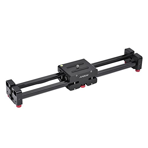 Andoer Versenkbare Kamera Video Slider Dolly 52cm Track Schiene Stabilisator 104cm tatsächlich gleitende Entfernung Laden bis 8kg für Canon Nikon Sony DSLR-Kameras Camcorder