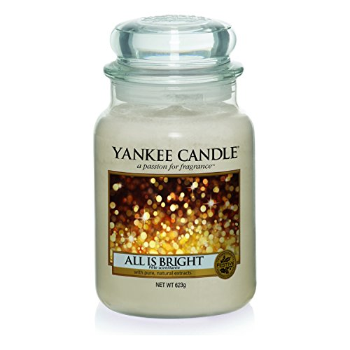 Yankee Candle Glaskerze, groß, All is Bright