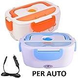 Calentador de alimentos térmico para coche, tartera de 12V portátil