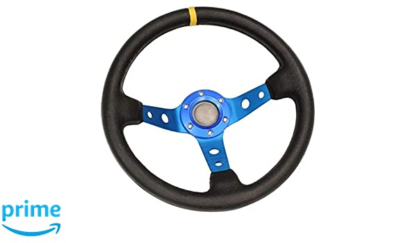 Black//White//Blue//Red//Green//Silver//Gold STR 13 Rally//Drift//Race Steering Wheel Blue, 3 2 or 3 Dish