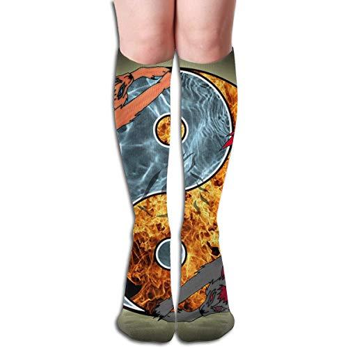 CVDFVFGB Compression Socks Wolf Yin Yang High Boots Stockings Long Hose for Yoga Walking for Women Man (Jesus Affe Kostüm)
