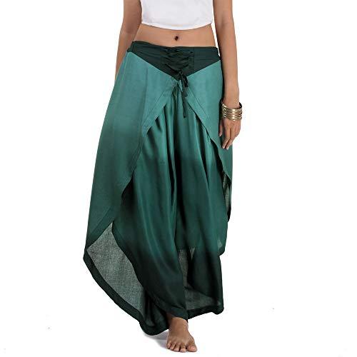 Frauen Indien Kostüm - Princess of Asia Hosenrock Haremshose Aladinhose (Einheitsgröße, Türkis)