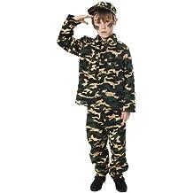 Army - Disfraz de soldado para niño, talla L (U24-029-HNB)